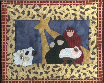 Nativity Christmas Applique Quilt Pattern | Cleo's Designs